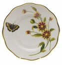 "Herend American Wildflower Salad Plate  7.5""D - Indian Blanket Flower"