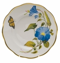 "Herend American Wildflower Salad Plate  7.5""D - Morning Glory"
