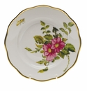 "Herend American Wildflower Salad Plate  7.5""D - Prairie Rose"