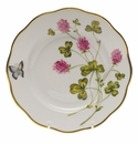 "Herend American Wildflower Salad Plate  7.5""D - Red Clover"