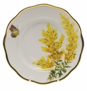 "Herend American Wildflower Salad Plate  7.5""D - Tall Goldenrod"