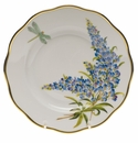 "Herend American Wildflower Salad Plate  7.5""D - Texas Bluebonnet"