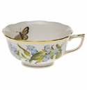 Herend American Wildflower Tea Cup  (8 Oz) - Blue Wood Aster