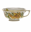 Herend American Wildflower Tea Cup  (8 Oz) - Butterfly Weed