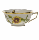 Herend American Wildflower Tea Cup  (8 Oz) - Indian Blanket Flower