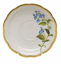 "Herend American Wildflower Tea Saucer  6""D - Blue Wood Aster"