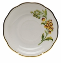 "Herend American Wildflower Tea Saucer  6""D - Butterfly Weed"