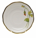 "Herend American Wildflower Tea Saucer  6""D - California Poppy"