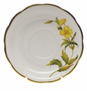 "Herend American Wildflower Tea Saucer  6""D - Evening Primrose"