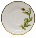"Herend American Wildflower Tea Saucer  6""D - Indian Blanket Flower"