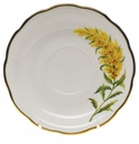 "Herend American Wildflower Tea Saucer  6""D - Tall Goldenrod"