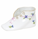 """Herend Blue Garland Baby Shoe  4.5""""L X 2.75""""H"""