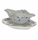 Herend Blue Garland Gravy Boat With Fixed Stand  0.75