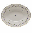 """Herend Blue Garland Oval Vegetable Dish  10""""L X 8""""W"""