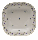 """Herend Blue Garland Square Fruit Dish  11""""Sq"""