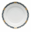 "Herend Chin Bouquet Garland Black Sapphire Bread & Butter Plate 6""D"