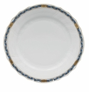 "Herend Chin Bouquet Garland Black Sapphire Dinner Plate 10.5""D"