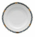 "Herend Chin Bouquet Garland Black Sapphire Salad Plate 7.5""D"