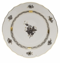 """Herend Chinese Bouquet Black Dinner Plate 10.5""""D"""