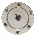 """Herend Chinese Bouquet Black Salad Plate 7.5""""D"""