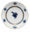 """Herend Chinese Bouquet Black Sapphire Bread & Butter Plate 6""""D"""