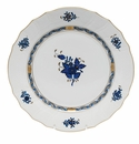"""Herend Chinese Bouquet Black Sapphire Dinner Plate 10.5""""D"""