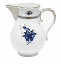 """Herend Chinese Bouquet Black Sapphire Pitcher (60 Oz) 7.75""""H"""