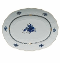 """Herend Chinese Bouquet Black Sapphire Platter 17""""L X 12.5""""W"""