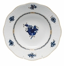 """Herend Chinese Bouquet Black Sapphire Rim Soup Plate 8""""D"""