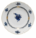 """Herend Chinese Bouquet Black Sapphire Salad Plate 7.5""""D"""