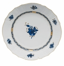 """Herend Chinese Bouquet Black Sapphire Service Plate 11""""D"""
