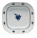 """Herend Chinese Bouquet Black Sapphire Square Fruit Dish 11""""Sq"""