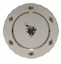 """Herend Chinese Bouquet Black Service Plate 11""""D"""
