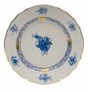 """Herend Chinese Bouquet Blue Bread & Butter Plate  6""""D"""