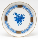 """Herend Chinese Bouquet Blue Coaster 4""""D"""