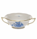 Herend Chinese Bouquet Blue Cream Soup Cup  (8 Oz)