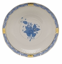"""Herend Chinese Bouquet Blue Cream Soup Stand  7.25""""D"""