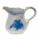 """Herend Chinese Bouquet Blue Creamer  (1.5 Oz) 2""""H"""