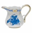 """Herend Chinese Bouquet Blue Creamer  (4 Oz) 3.25""""H"""