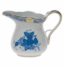 """Herend Chinese Bouquet Blue Creamer  (6 Oz) 3.5""""H"""
