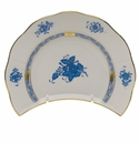 """Herend Chinese Bouquet Blue Crescent Salad  7.25""""L X 5""""W"""