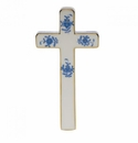 """Herend Chinese Bouquet Blue Cross 4.75""""L X 2.25""""W"""