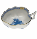 """Herend Chinese Bouquet Blue Deep Leaf Dish  1.5""""H"""