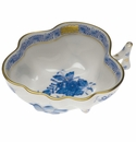 """Herend Chinese Bouquet Blue Deep Leaf Dish  4""""L X 3""""W"""