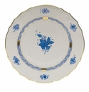 """Herend Chinese Bouquet Blue Dinner Plate  10.5""""D"""