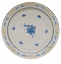 """Herend Chinese Bouquet Blue Footed Seder Plate  14""""D"""