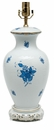 Herend Chinese Bouquet Blue Large Basketweave Lamp Only