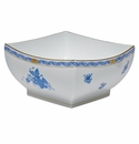 """Herend Chinese Bouquet Blue Large Square Bowl 8""""L X 4""""H"""