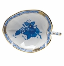 """Herend Chinese Bouquet Blue Leaf Tray  4.5""""L X 3""""W"""