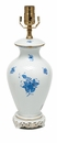 Herend Chinese Bouquet Blue Medium Basketweave Lamp Only B